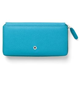 Graf-von-Faber-Castell - Ladies purse Epsom with zipper, Gulf Blue