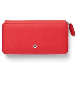 Graf-von-Faber-Castell - Ladies purse Epsom with zipper, India Red