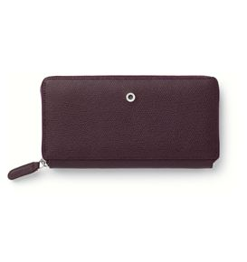Graf-von-Faber-Castell - Ladies purse Epsom with zipper, Violet Blue