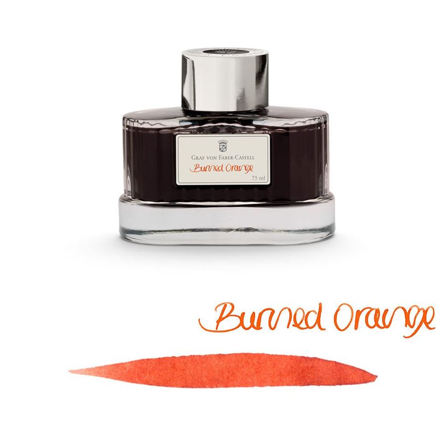 Graf-von-Faber-Castell - Ink bottle Burned Orange, 75ml