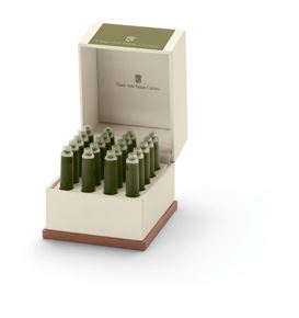 Graf-von-Faber-Castell - 20 ink cartridges, Olive Green