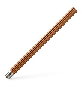 Graf-von-Faber-Castell - 5 spare pencils Perfect Pencil, platinum-plated, Brown