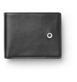 Graf-von-Faber-Castell - Wallet with flap, black smooth