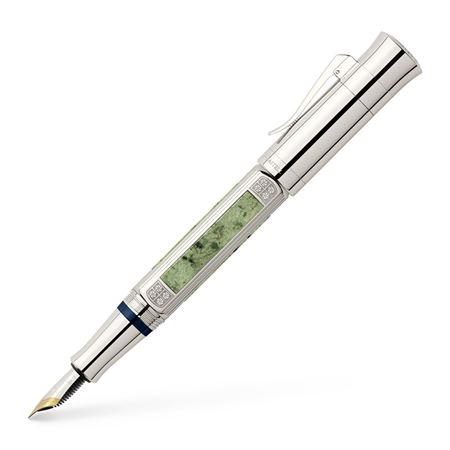 Graf-von-Faber-Castell - Fountain pen, Pen of the Year 2015 platinum-plated, Broad